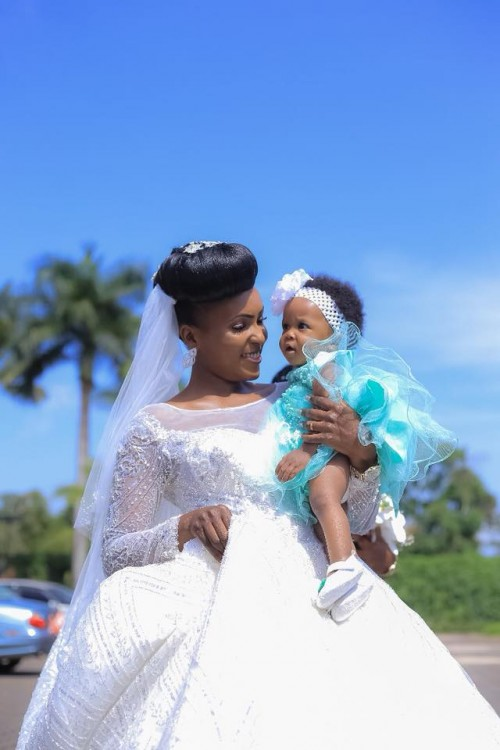 Julian and her baby, wedding day shots by Access Films