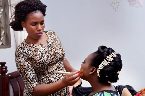 Vision Bridals taking the salon to the bride for her special day