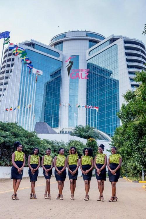 Superior Galz Ushers at the 5 star Pearl of Africa Hotel in Nakasero, Kampala-Uganda