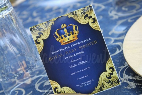 Shillah's Royal baby shower Navy blue & Gold theme