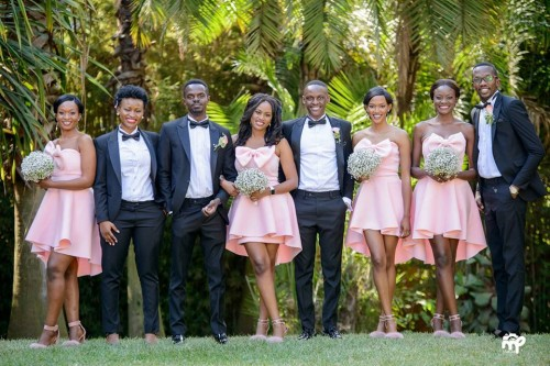 Tinah and Isaac's elegant bridal party, wedding shots by Makula Pictures