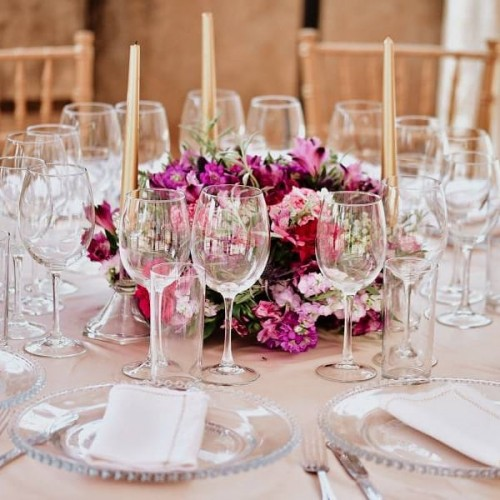 Table setup details from Carol's kukyala by Eventique