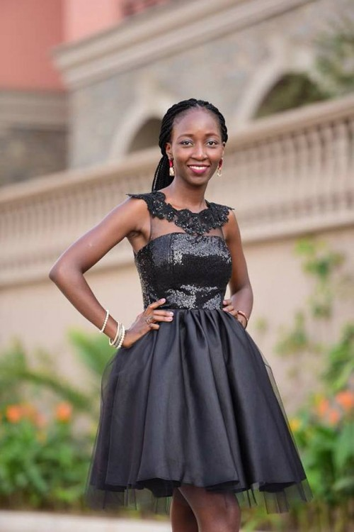 Mercie Odu in her tailored dress by Bloodworth