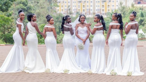 Lilian and her stunning bridesmaids, photo by Genius Media Events