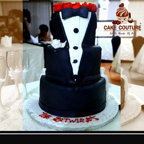 A tuxedo inspired cakeby Cake Coutrure 256