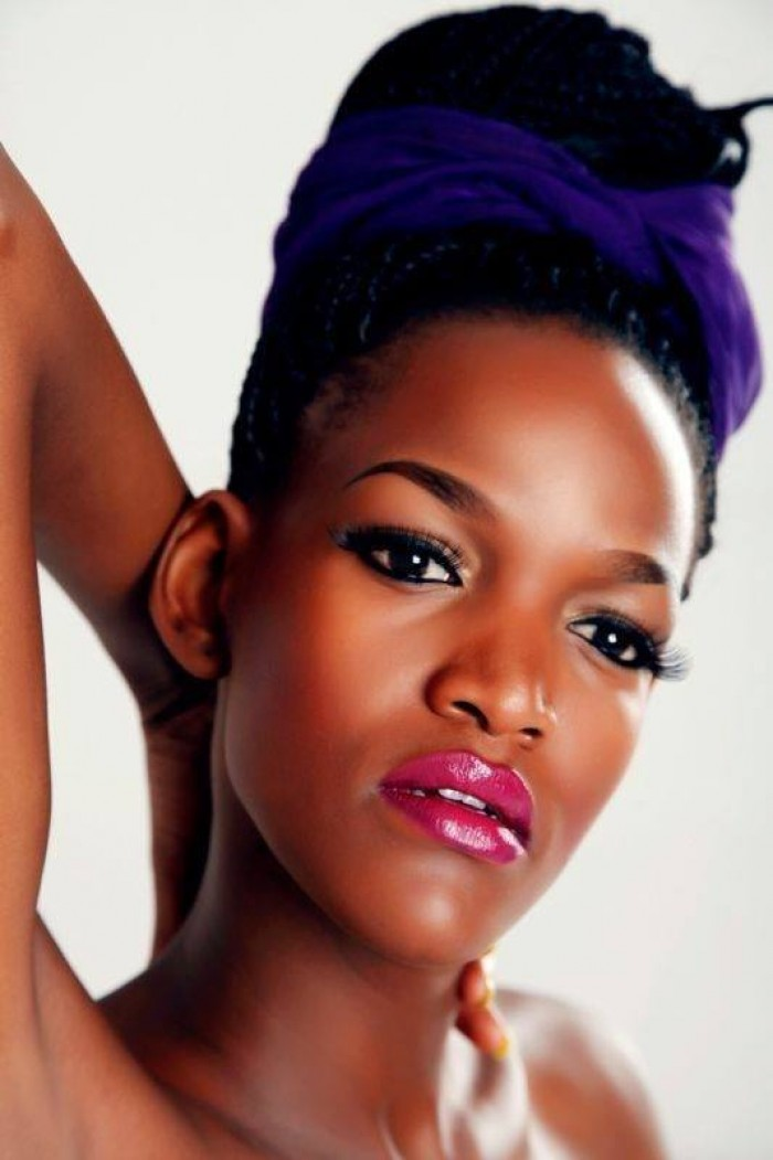 Ugandan model with makeup by Salon lords and ladys
