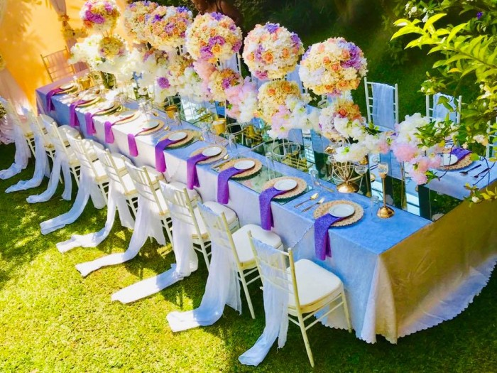 Lilac, Pitch & Gold themed decor at Protea Hotel by Essie Events1