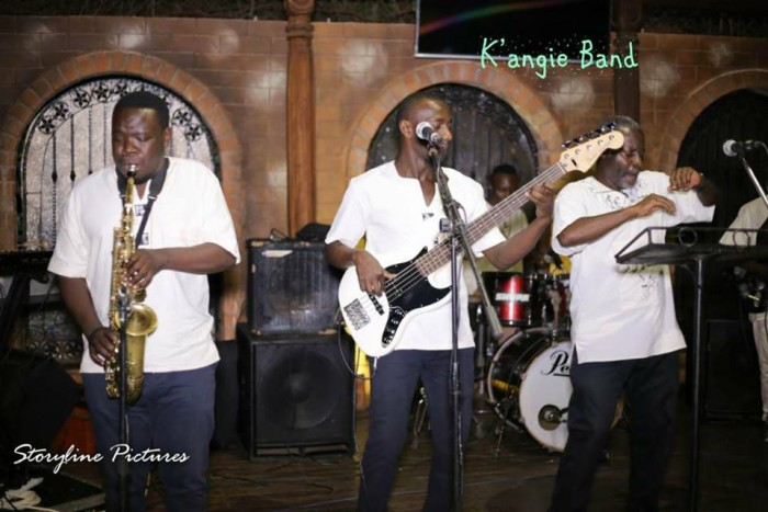 K'angie band performing on stage