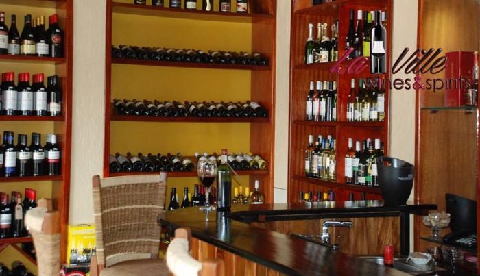 Different wine types at La ville
