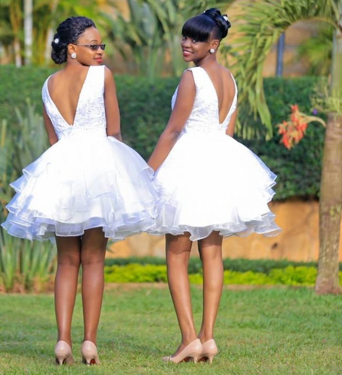 White Custom Tailored Bridemaid dresses by Fatuma Asha