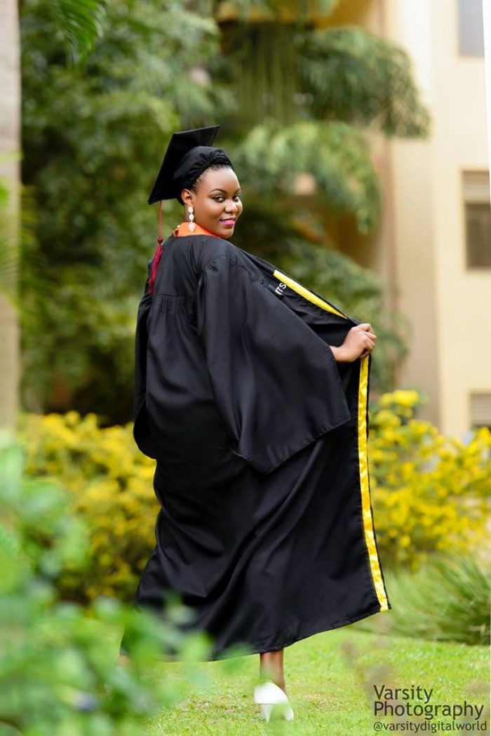 Monic on her graduation day, photo by Varsity Digital World