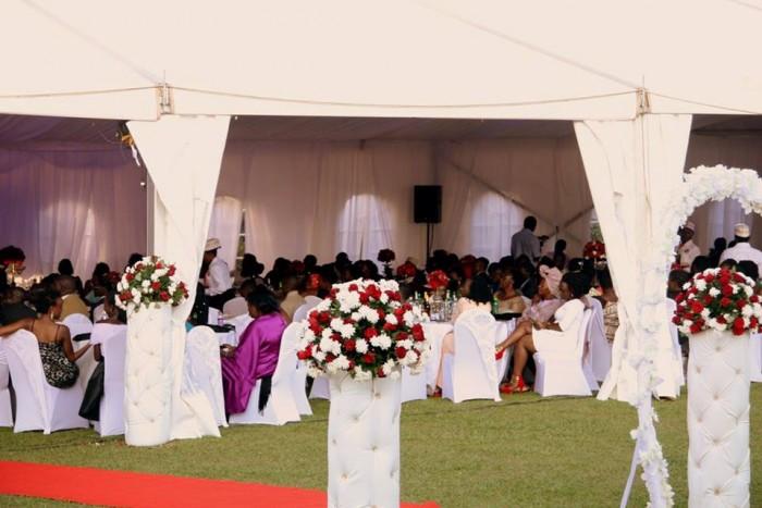 Wedding tents for Steve and Kiona's wedding by Henhar Service