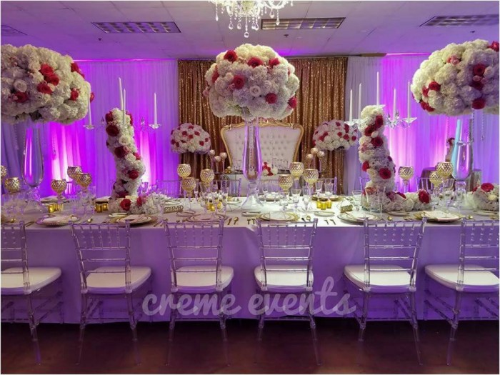 Birthday Dinner Set up by Creme Events