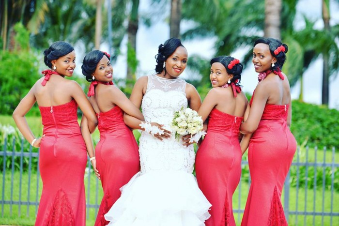 Solome and her bridesmaids at their wedding photo shoot by On Timeline Media