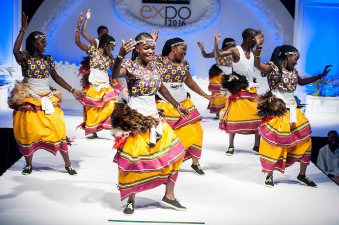 The Dance N' Beats Cultural Troupe perform at the 2016 Bride & Groom Expo at Lugogo