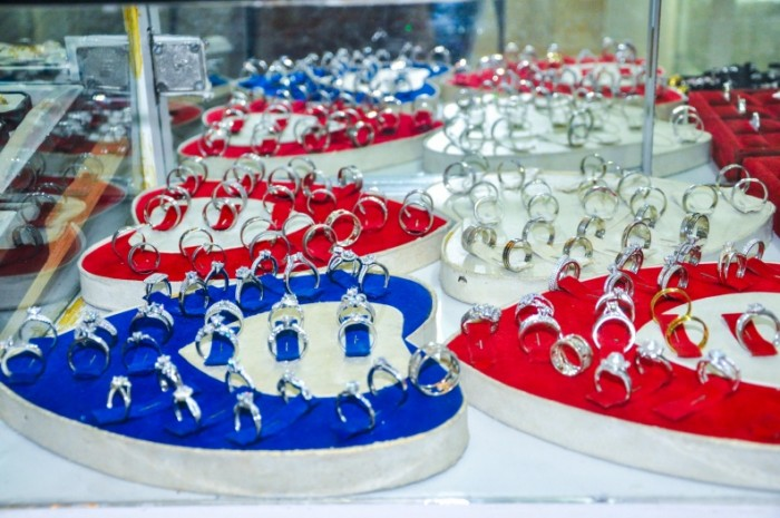All sorts of rings that you will find at Radha Jewellery Ltd Uganda