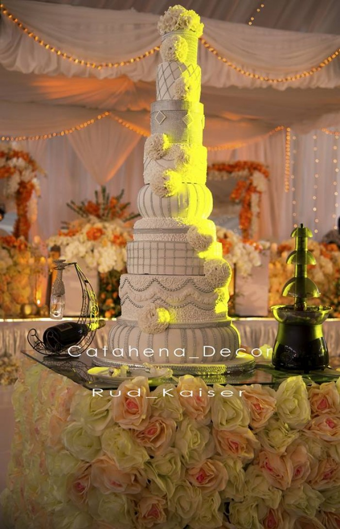 Salinge Claire's wedding cake