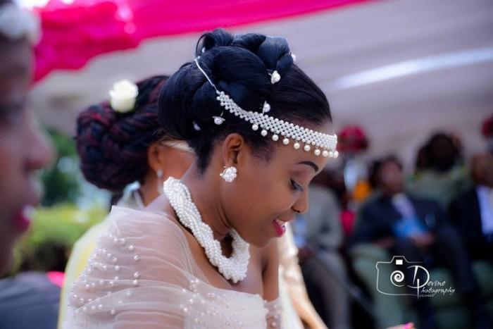 A beautiful Ugandan bride at her Kuhingira