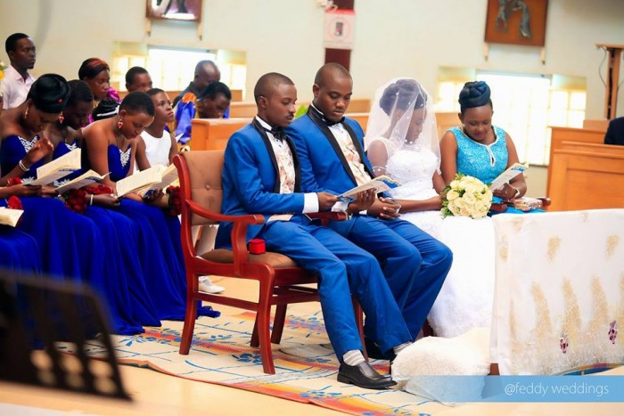 Wedding church ceremony in progress as captured by Feddy Weddings
