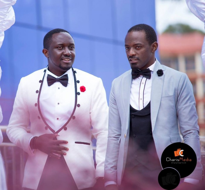 Innocent and his best man, wedding photography Charis Media