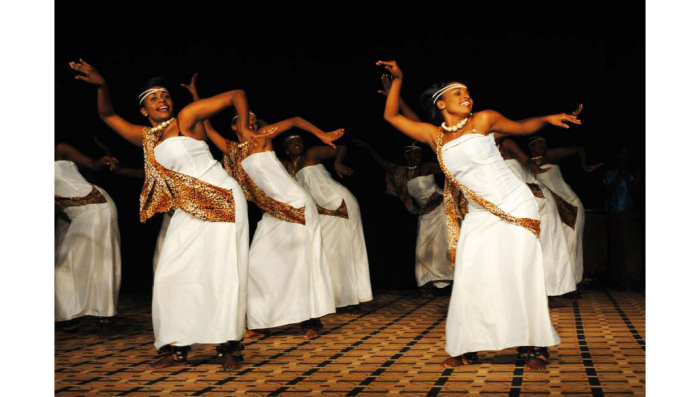 Cultural troupes perform the Kinyarwanda dance at an event captured by Dream Occasions Ug