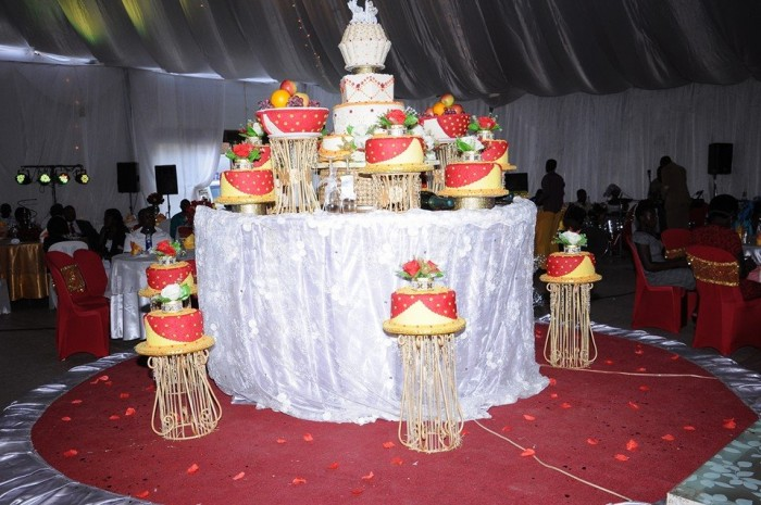 A magnificent wedding cake by Shibz Events Ltd