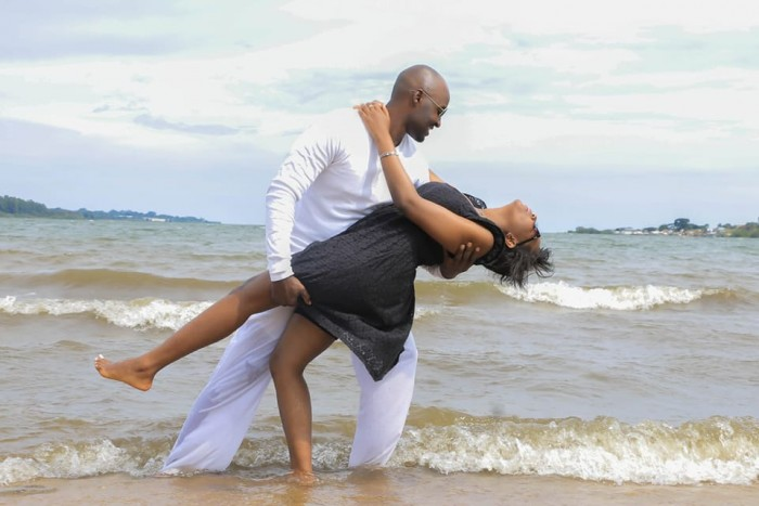 A couple at a prewedding photo shoot powered by Genius Media Events