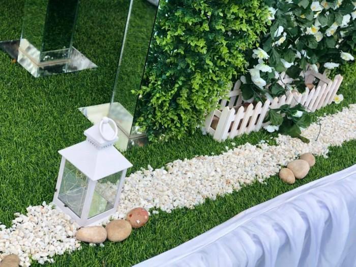David and Liz's wedding decor at Nican Resort Hotel
