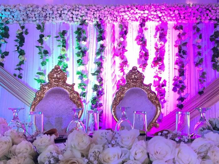 Moses and Christinah's wedding decor at Kisakye hall, Silversprings hotel