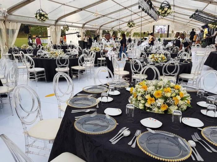 Wedding Reception Setup at Munyonyo Commonwealth Resort