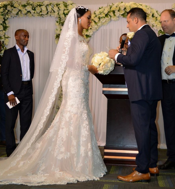 Aly Allibhai and Sylvia Namutebi exchange vows, photo by Access Films