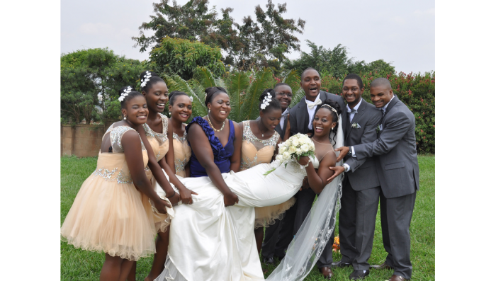 Pure joy and bliss at a wedding photo shoot by Dream Occasions Ug