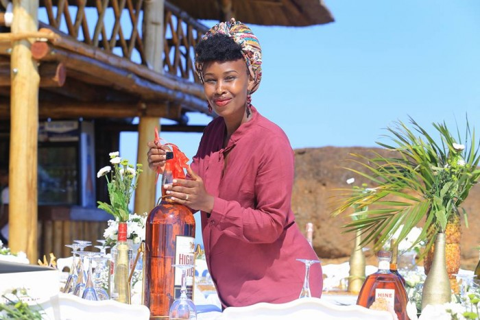 Barbie Itungo Kyagulanyi doing decorations at One Love Beach Busabala