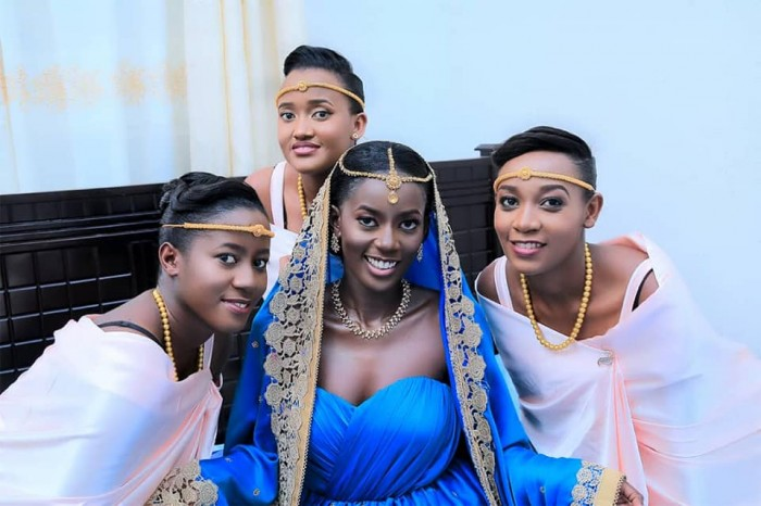Beautiful customary wedding bridal entourage dressed by Peponi Clothing