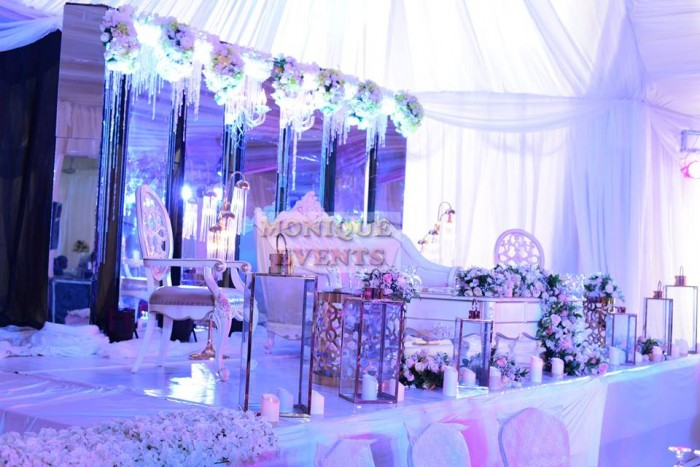 High table decorations by Monique Events Uganda