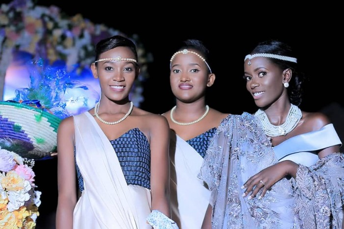 Adrine and part of her maids, entourage dressed by Peponi Clothing