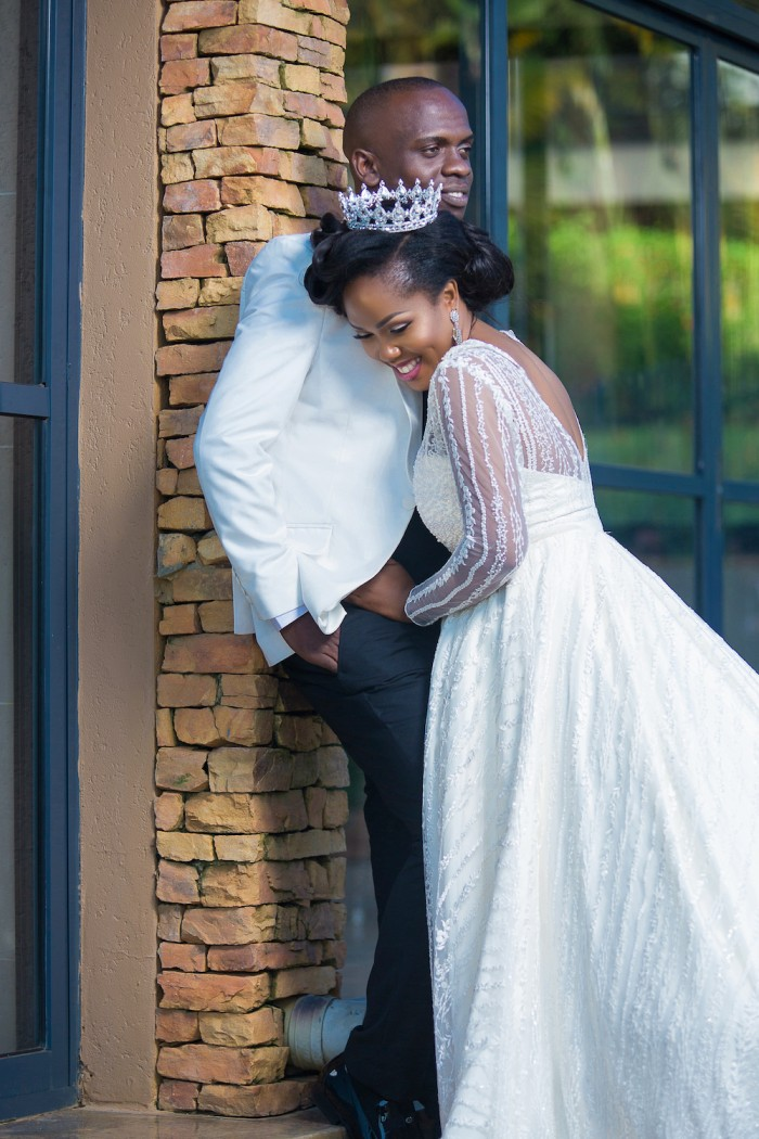 Kayovu & Fyona Kirabo at their wedding photo shoot at the Commonwealth Resort in Munyonyo