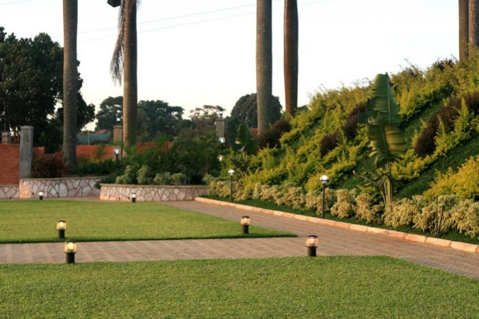 The green turf at Mawanda Royal Gardens