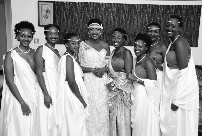 Patricia & the maids during her Gushaba in Mutungo, Kampala captured by Globetek Entertainment