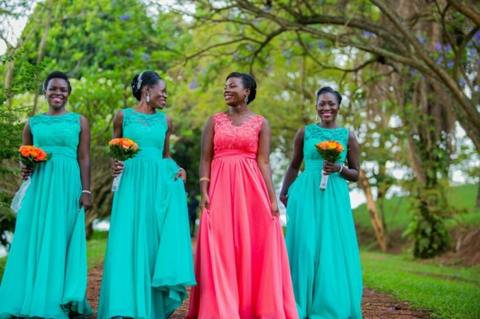 Bridesmaids dressed by Bloodworth