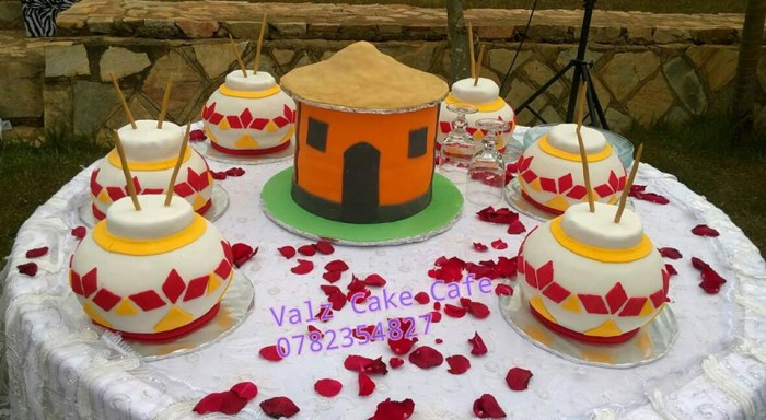 A customary wedding cake supplied by Valz Cake Cafe