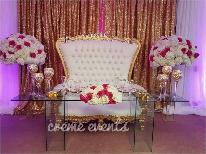 Simple Wedding High table Set up