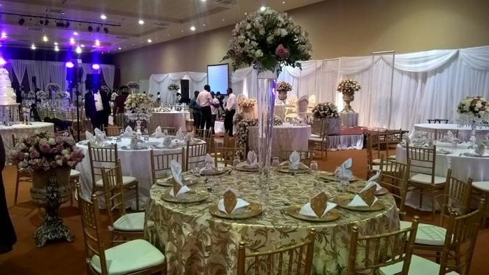 Indoor wedding setup by Mapenzi Events