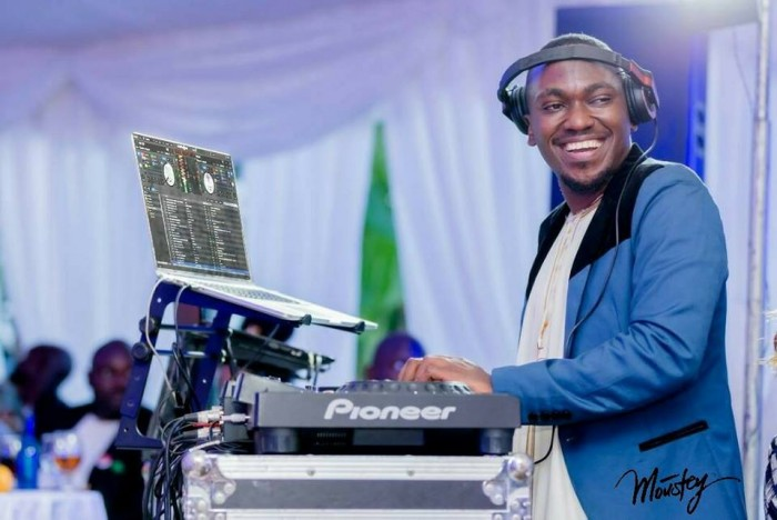 Dj  Moustey Mustapha of Real Sounds on the turntables