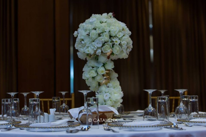 Floral Centerpiece Decor by Catahena Decor & Wedding Planners