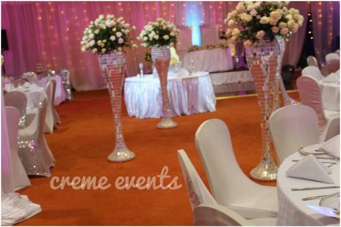 White and silver Wedding Decor theme