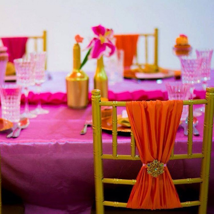 Chivari Chair for a dinner, Decor by My Event Planner