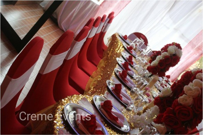 Red, White and Gold Decor