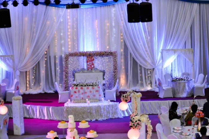 Eye catching wedding decorations at Silver Springs Hotel