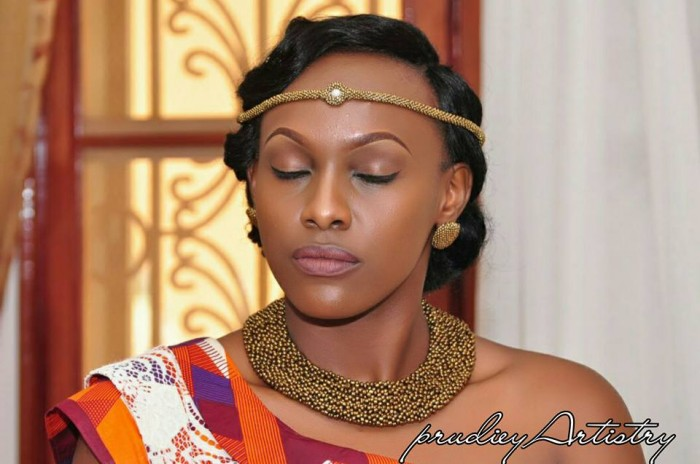 Esther's beautiful makeup done by Prudiey Artistry